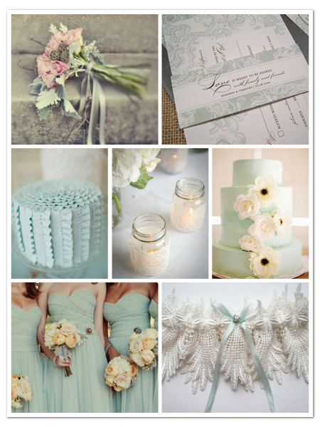blue vintage lace wedding invitation inspiration board
