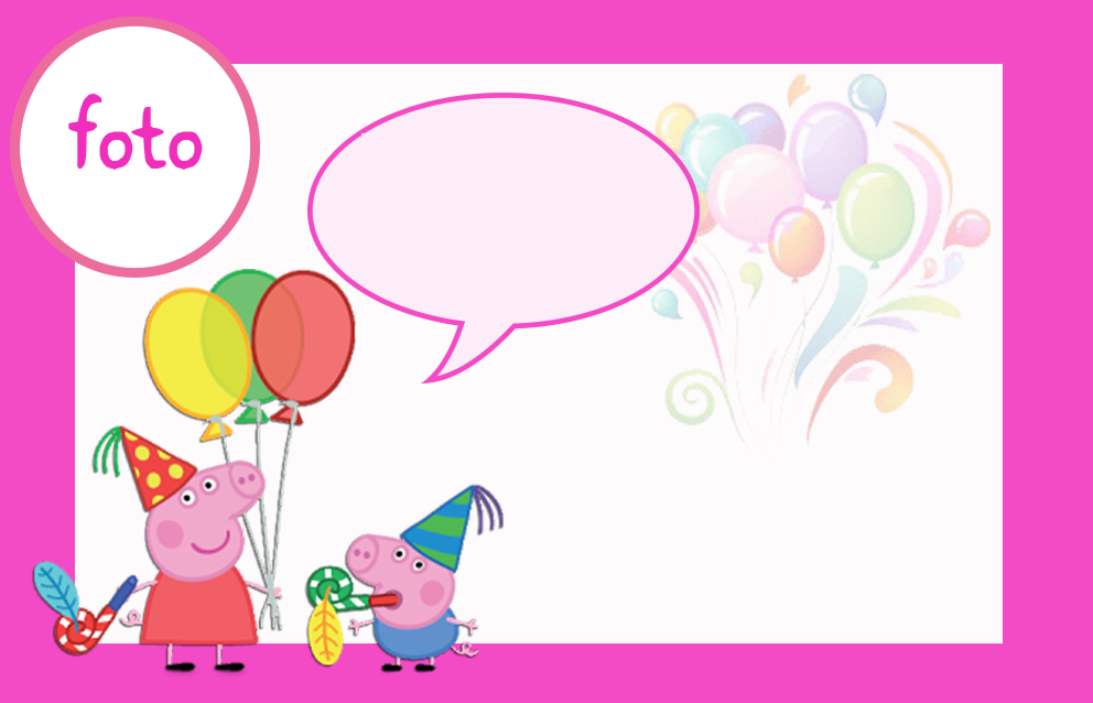 Peppa Pig: Free Printable Invitations, Labels or Cards. | Oh My Fiesta ...