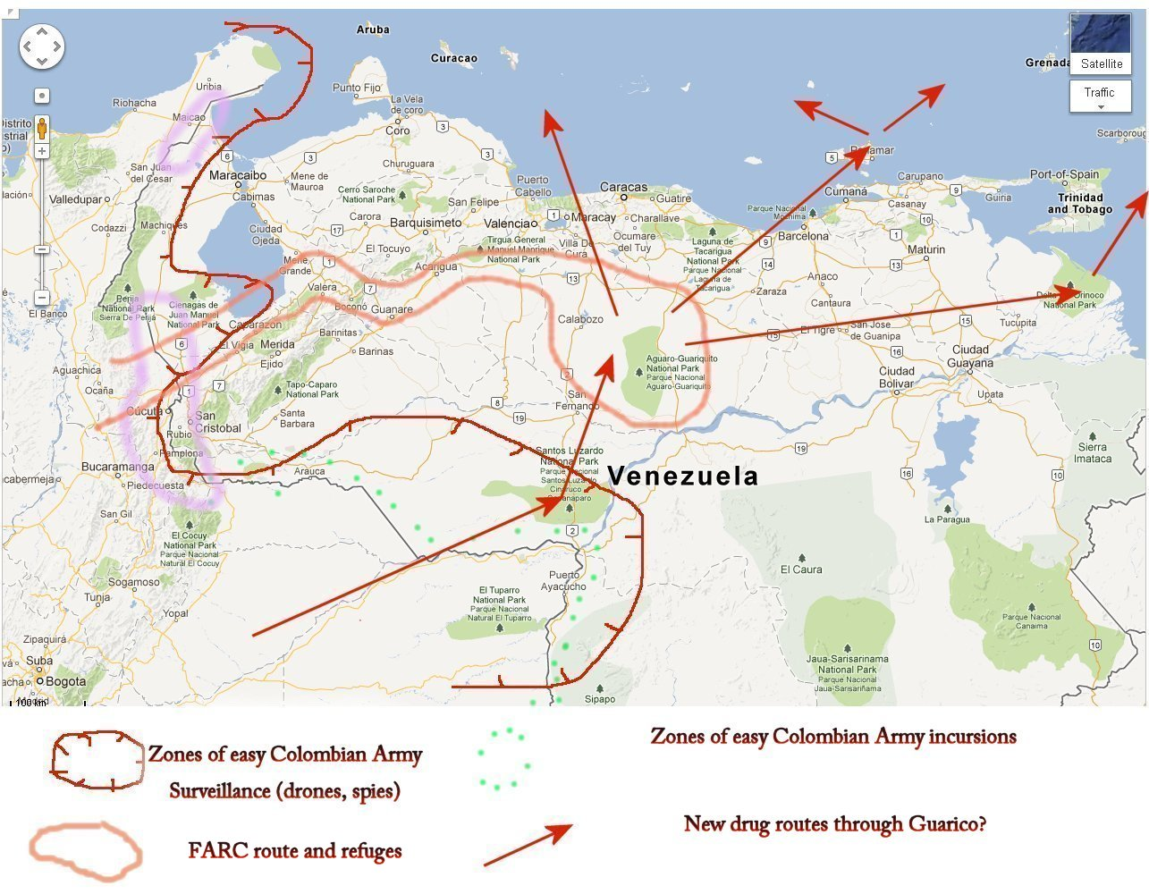 Venezuela News And Views The building up of a FARCdrug corridor in