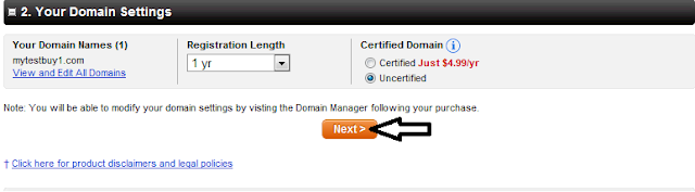 Godaddy domain settings