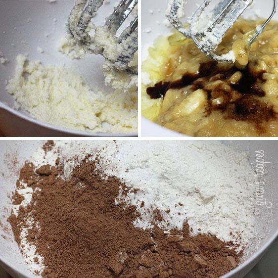 Chocolate Chocolate Chip Banana Muffins with Glaze | Skinnytaste