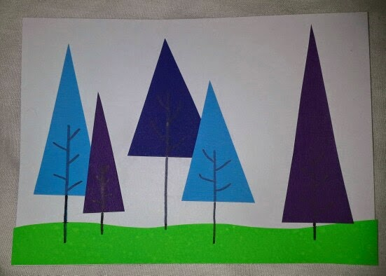 creative kids art and craft club trees cool and warm colours