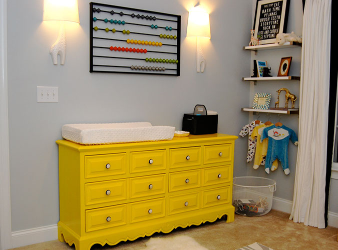 Grey Amp Yellow Modern Nursery Design Dazzle