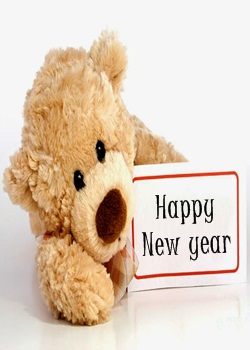 New Year Whatsapp Image of Teddy