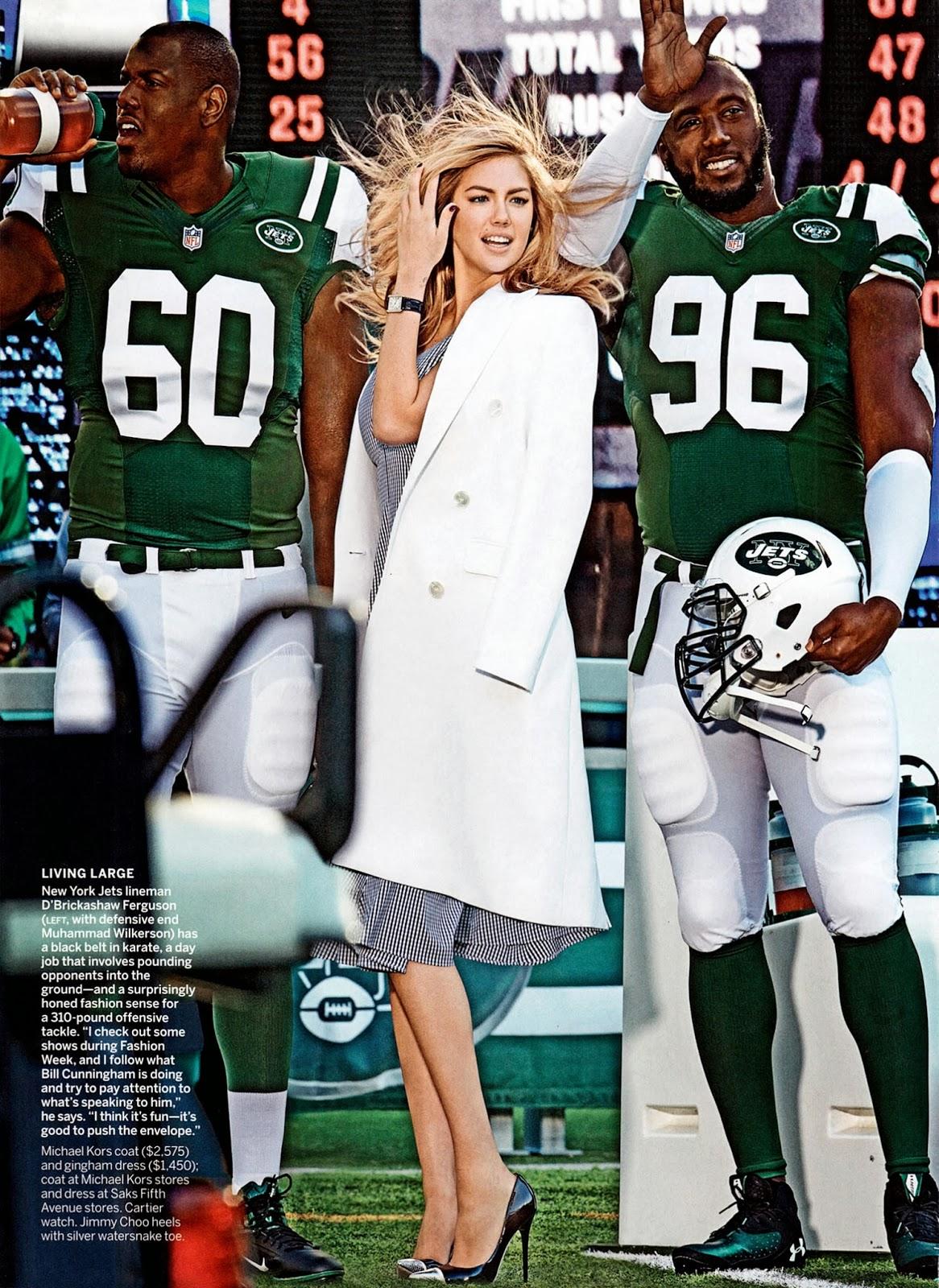 Magazine Cover : Kate Upton Magazine Photoshoot Pics on Mario Testino Vogue Magazine US February 2014 Issue