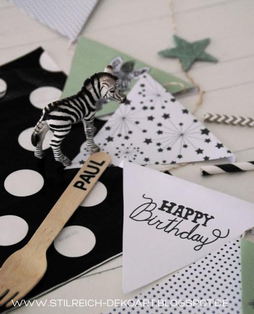 Zebra party gestreift gepunktet und mit m hrchen s - Stilreich instagram ...