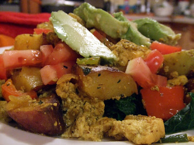 "Southwestern Tofu Scramble with Greens | The ""V"" Word"