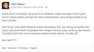Update Status di Facebook