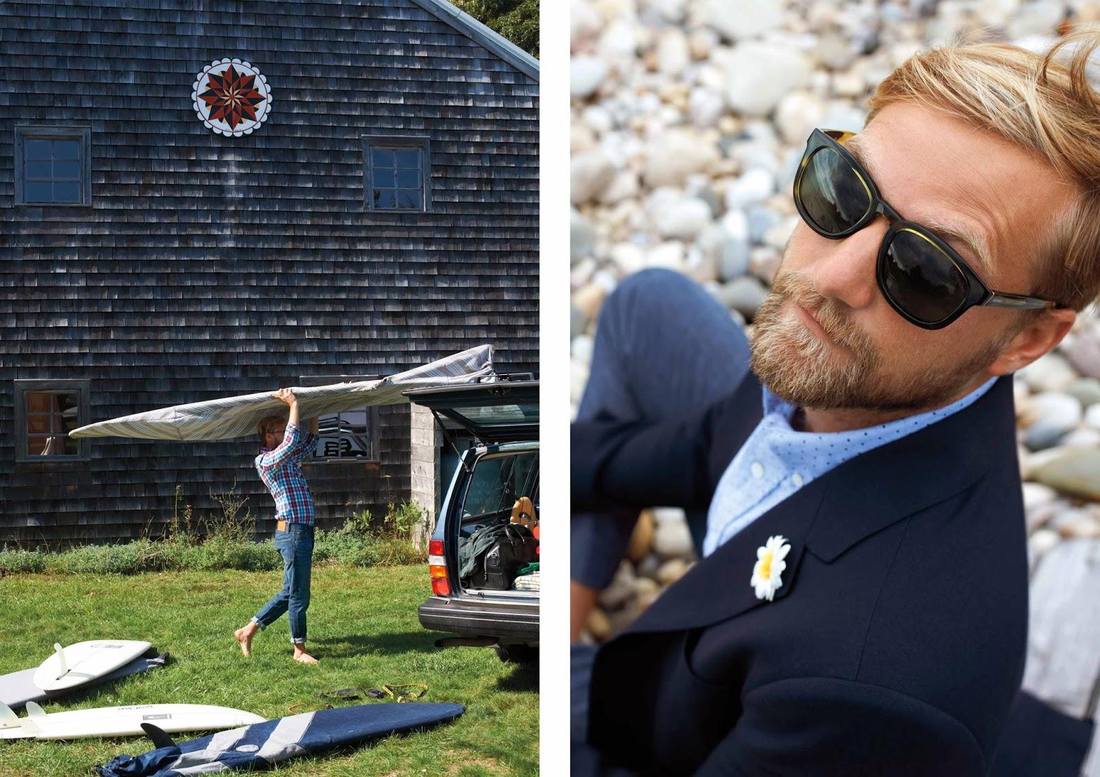 jack spade menswear, jack spade spring summer 2014, mikey detemple surfer jack spade, menswear photoshoot america