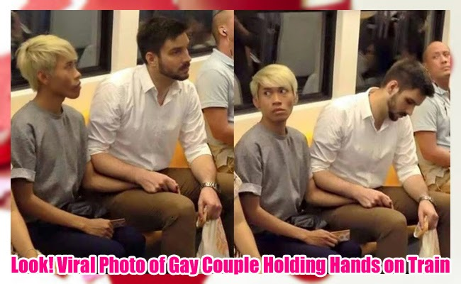 Look! Viral Photo of Gay Couple Holding Hands on Train