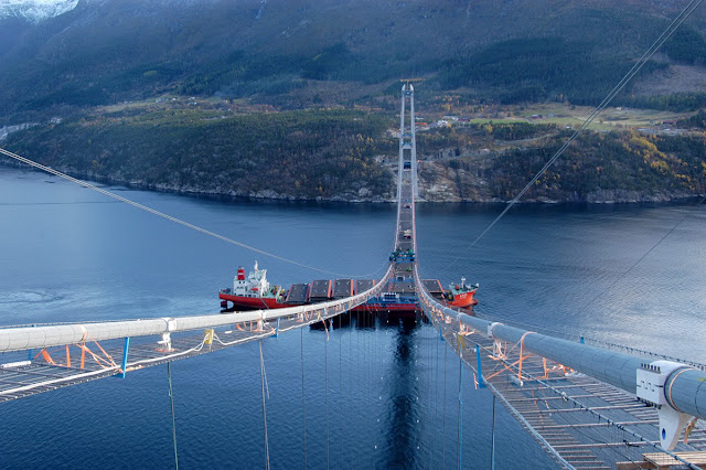 Norway Sky Bridge, The Hardanger Bridge, under construction, picture, video, longest bridge in norway, longer than, golden gate bridge san francisco, 9th longest in the world