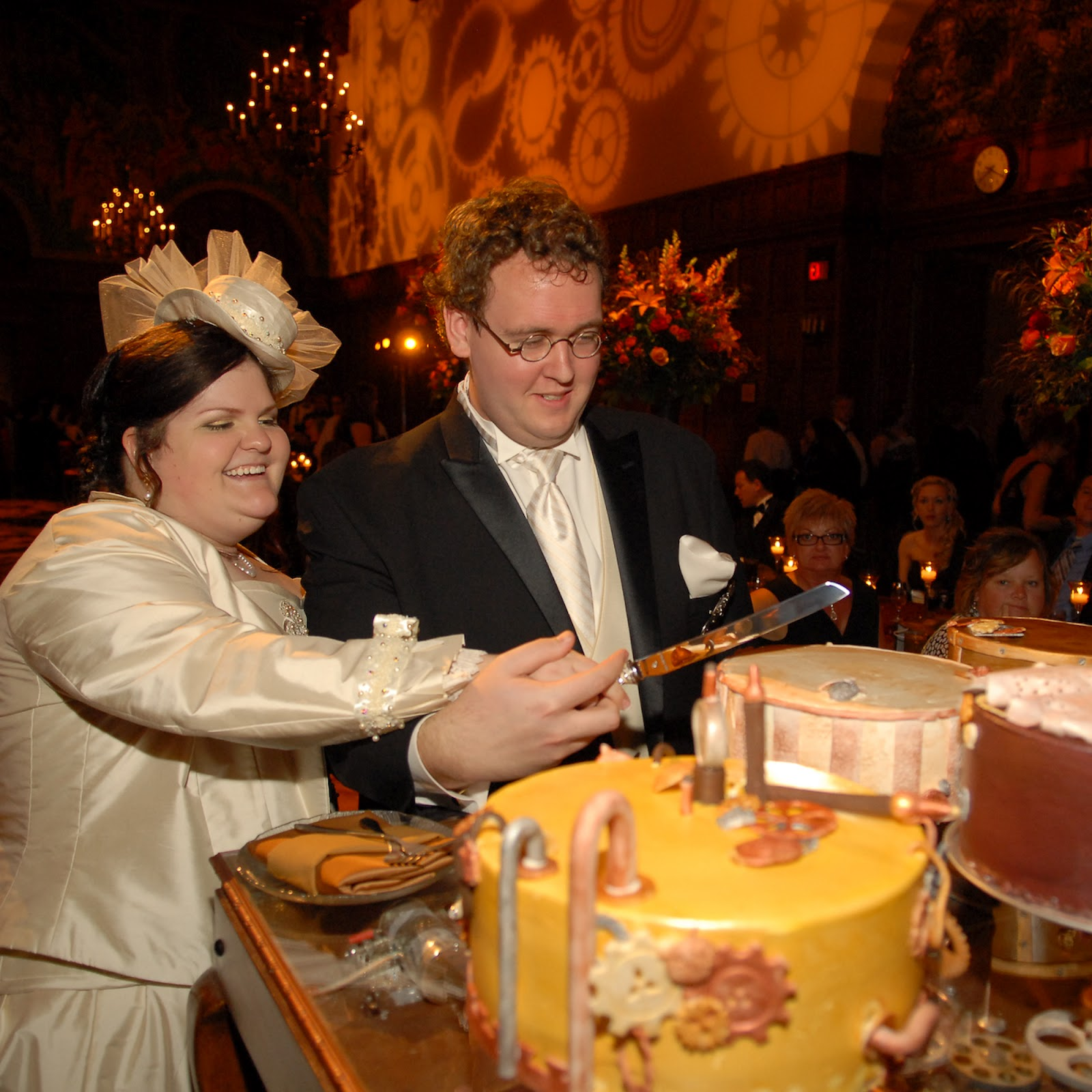 cake, steampunk, wedding, reception, cincinnati