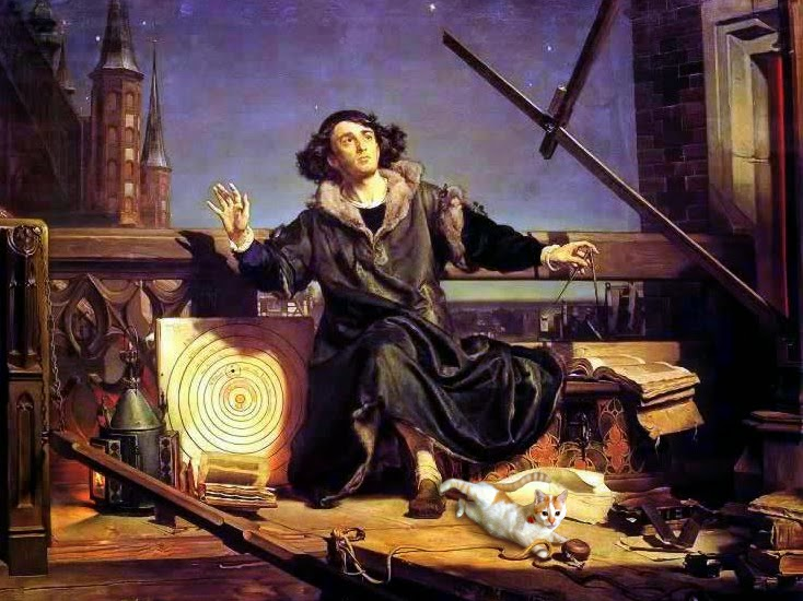 Nicolaus Copernicus science cats heliocentric heliocentrism Jan Matejko Josef Spalenka