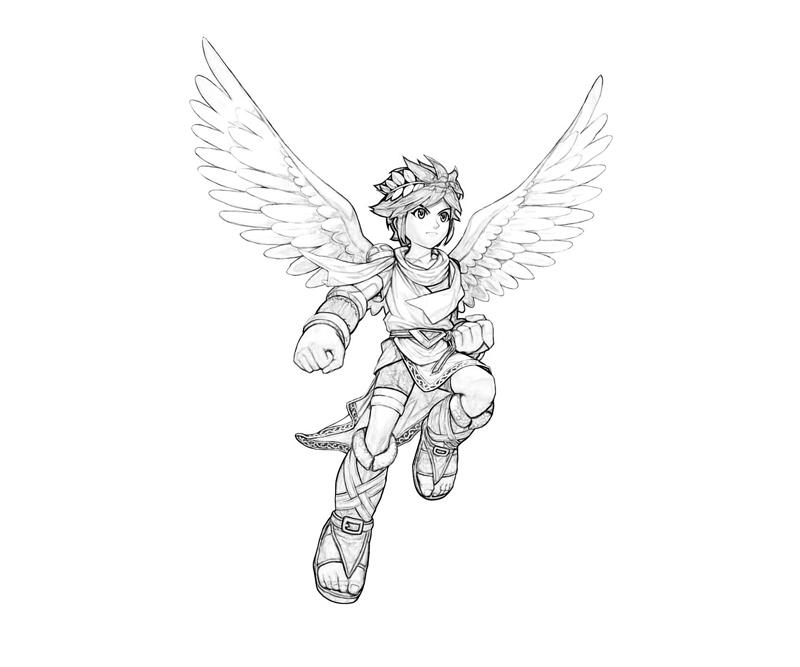 Kid Icarus Pit Uprising Coloring Pages