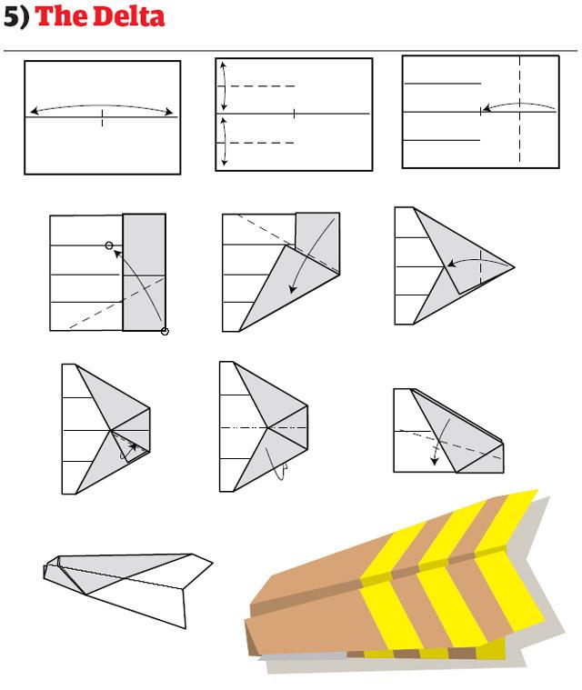 бумажный самолетик 12