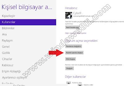 Windows 8 Resimli Oturum Açma