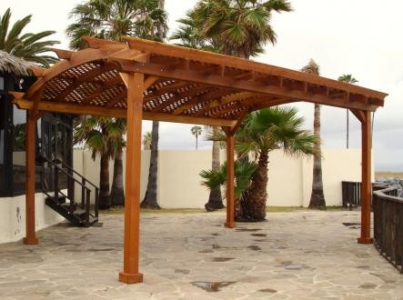 Built exactly like our other pergolas at RedwoodGardens.net, only the roof  style changes. Arched pergolas can be made in any size and includes a  beautiful ... - Choosing A Pergola PERGOLAS