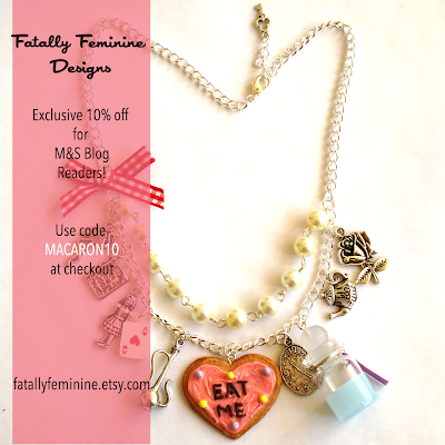 Alice in Wonderland Statement Charm Necklace