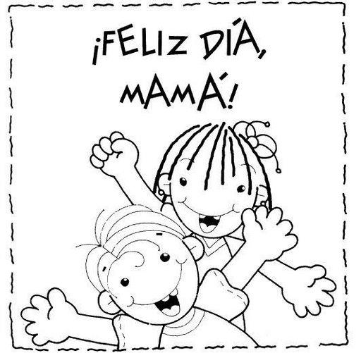 Feliz DIA De Las Madres Para Colorear