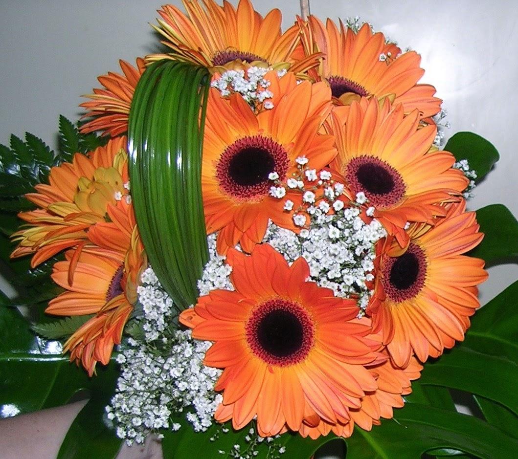 Ramos y Bouquets de Novia Naranja, parte 2