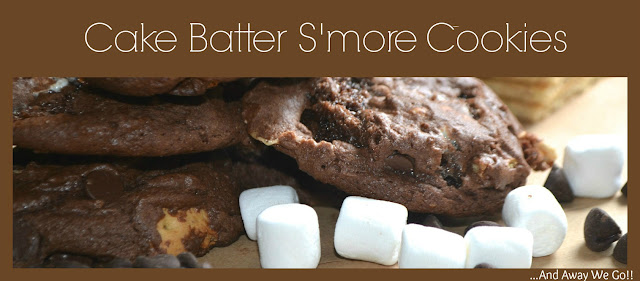 cake batter s'more cookies