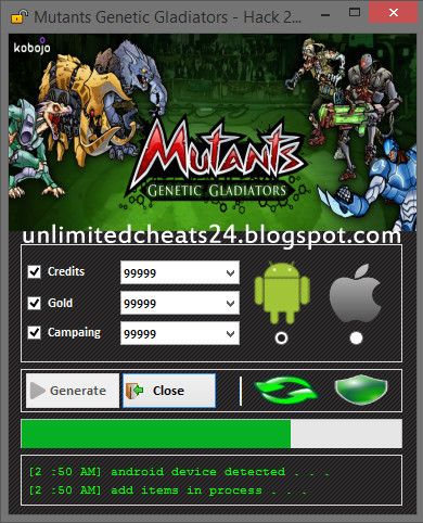 mutants genetic gladiators hack tool free download no survey