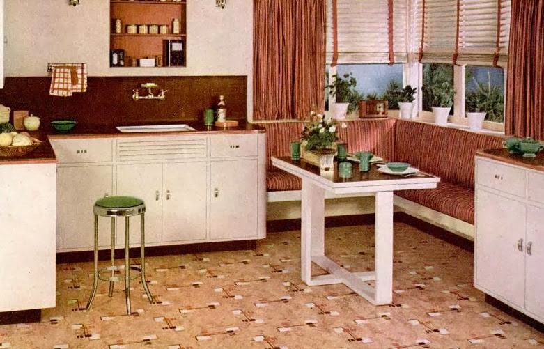 My Pretty Baby Cried She Was a Bird: Nairn Linoleum Floors (1941 ...