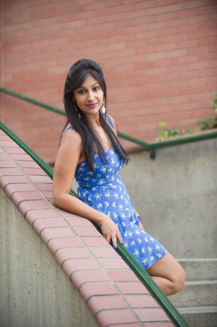 Blue dress, Indian fashion blogger, a short blue dress, Mrs India Seattle, Indian beauty