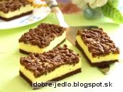 Strúhaný kakaový zákusok s tvarohom - recept