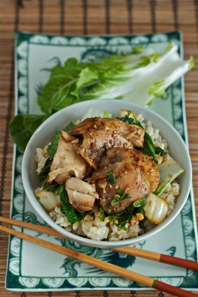 Gingery Vietnamese slow cooker chicken with bok choy