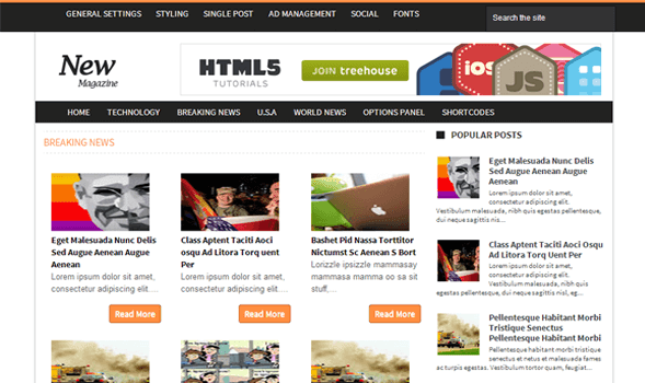 Download - News Magazine Responsive Blogger /Blogspot Template