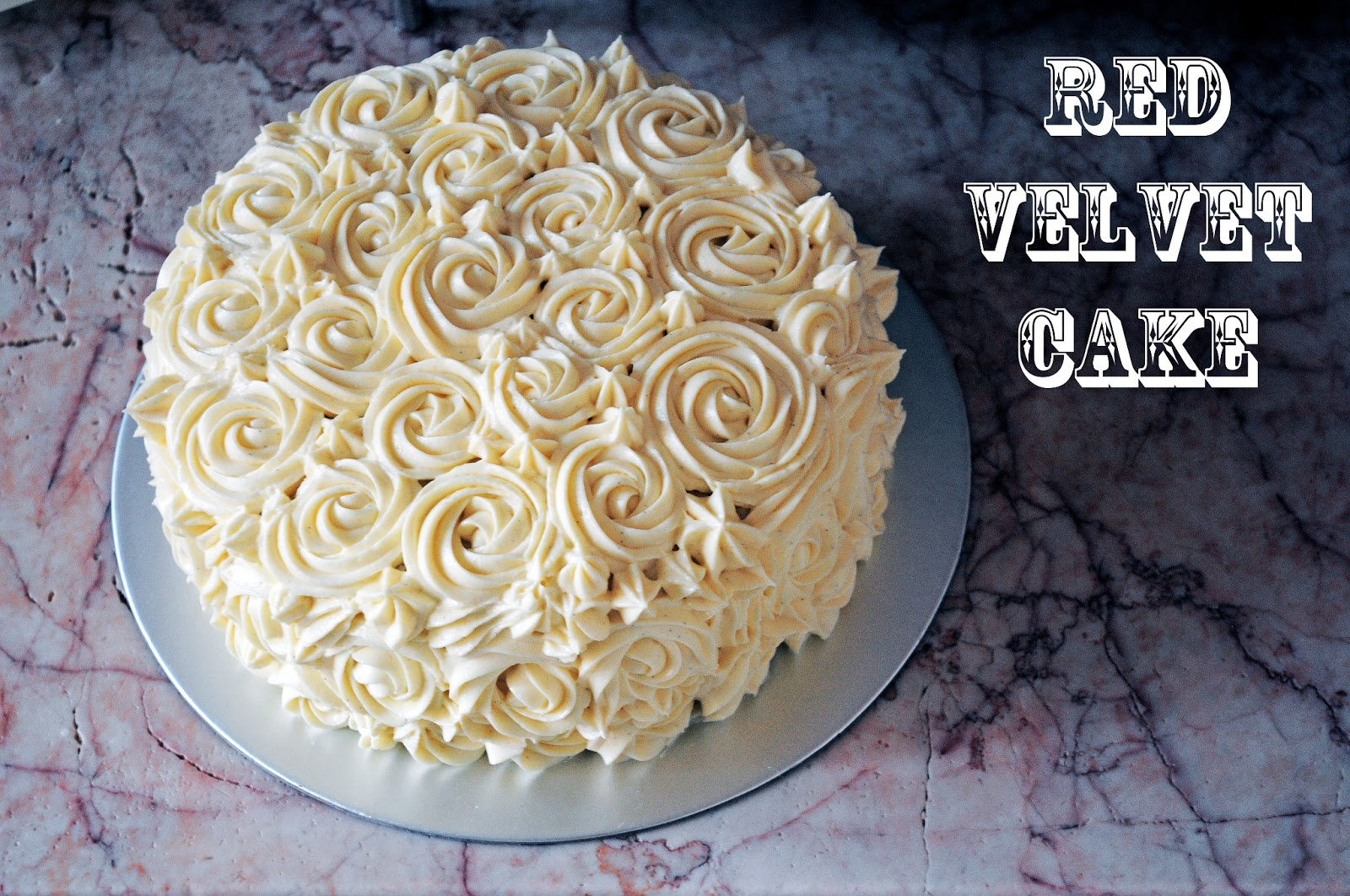 Red Velvet Cake With Rosette Cream Cheese Frosting Forget Those