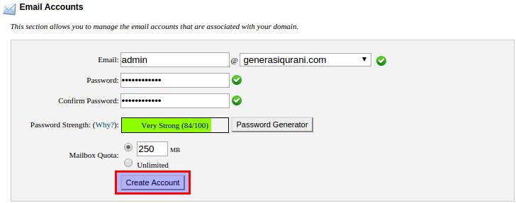 Membuat Email di cPanel