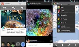 Google+ and Google Maps for Android update