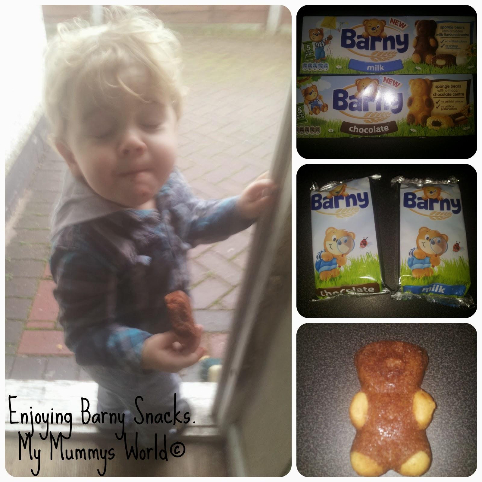 Enjoying Barny Snacks My Mummys World©