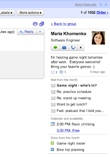 Gmail ya muestra información de los contactos en la Bandeja de Entrada 33