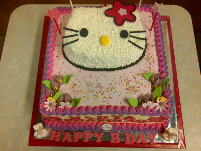 sarikaya cakes: KUE ULANG TAHUN HELLO KITTY UKURAN 30 X 30 CM