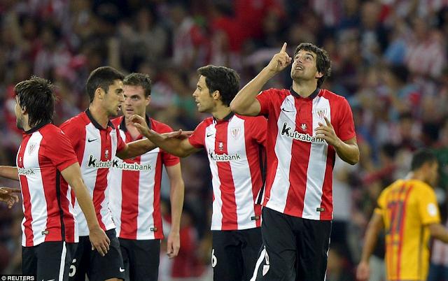 Cuplikan Gol Mikel San Jose Pada Pertandingan Atheltic Bilbao vs Barcelona