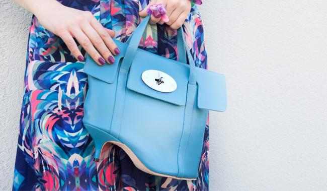 azumi and dazed, heel bag, textile federation print