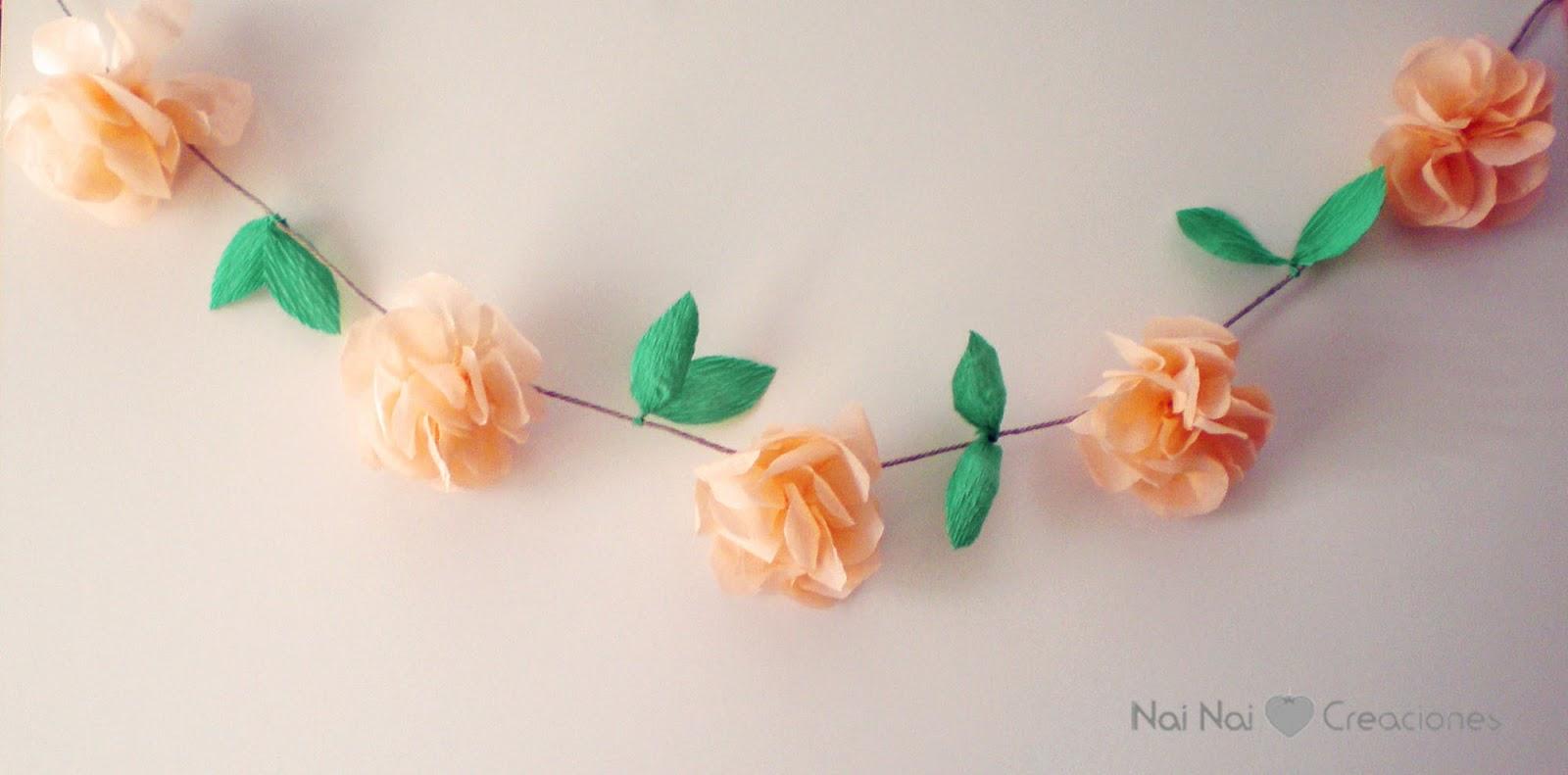Nai nai guirnalda de flores - Como hacer guirnaldas de navidad ...