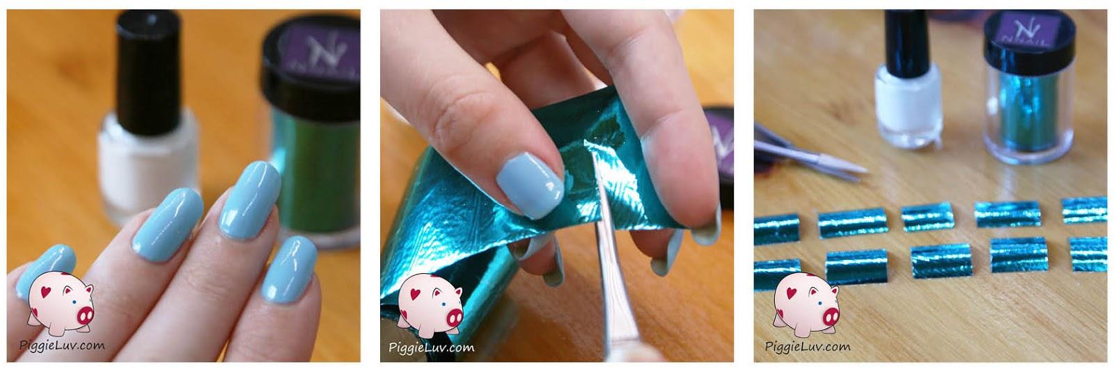 PiggieLuv: Nail foil tutorial from KKCenterHK