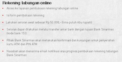 Kemudahan  Membuka Tabungan/Rekening Online Bank Sinarmas
