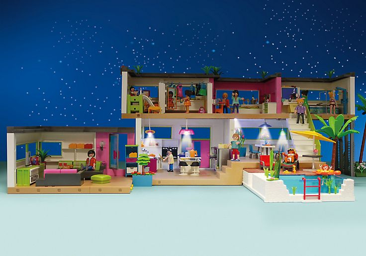 T a witty modern luxury mansion playmobil for Playmobil basteln