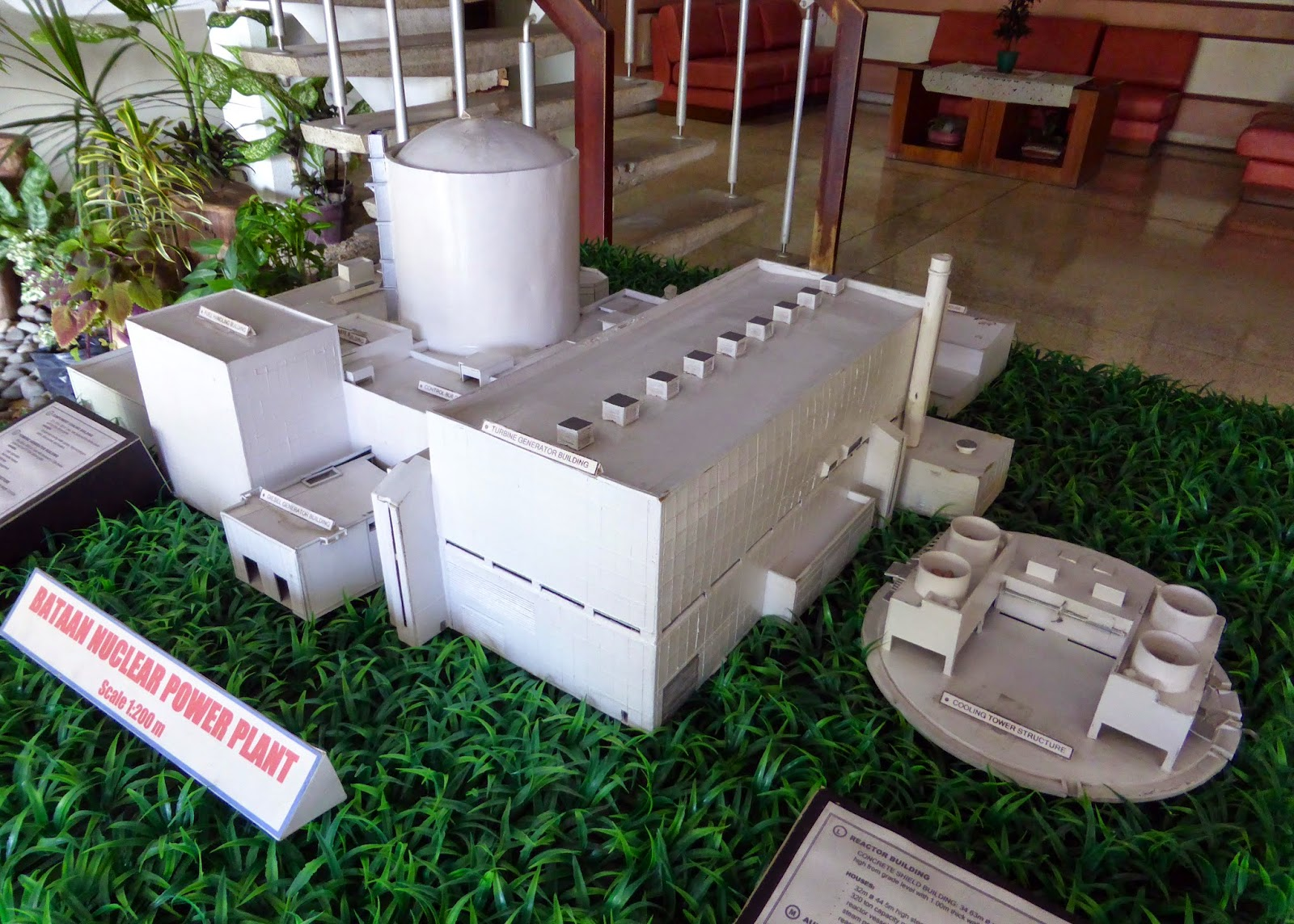 naquem bataan nuclear power plant bnpp symbolic icon for the scale model of bnpp