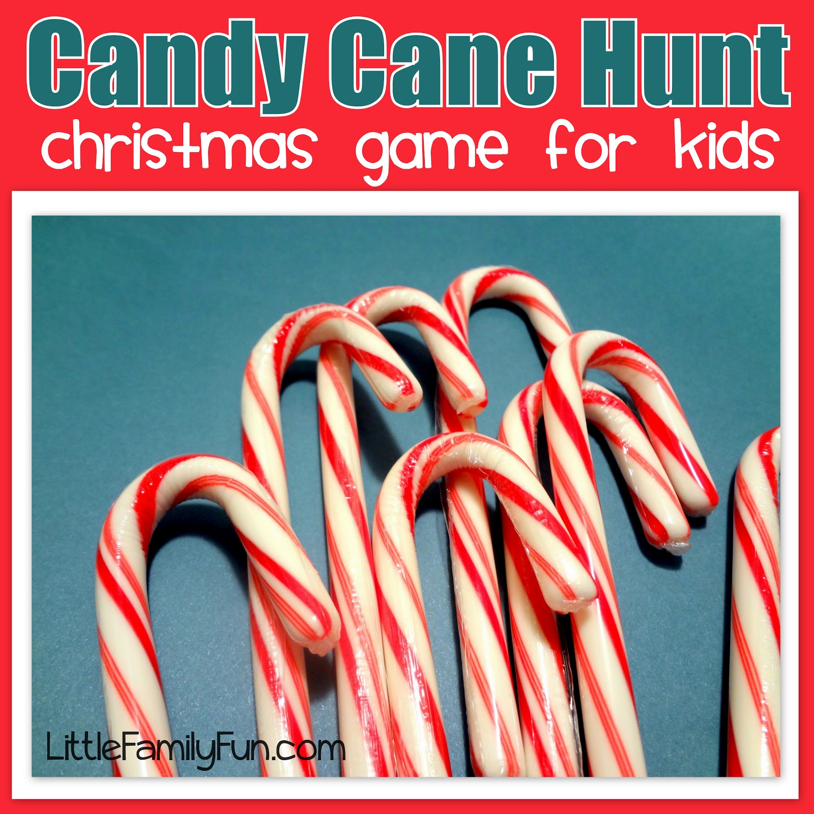 little family fun candy cane hunt