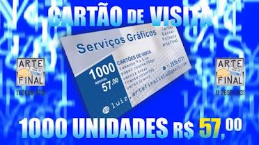 Promoção Relâmpago - 1000 cartões 57,00