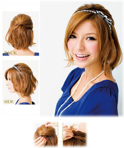 fancy updo hairstyles for medium length. hair elegant prom updo suits