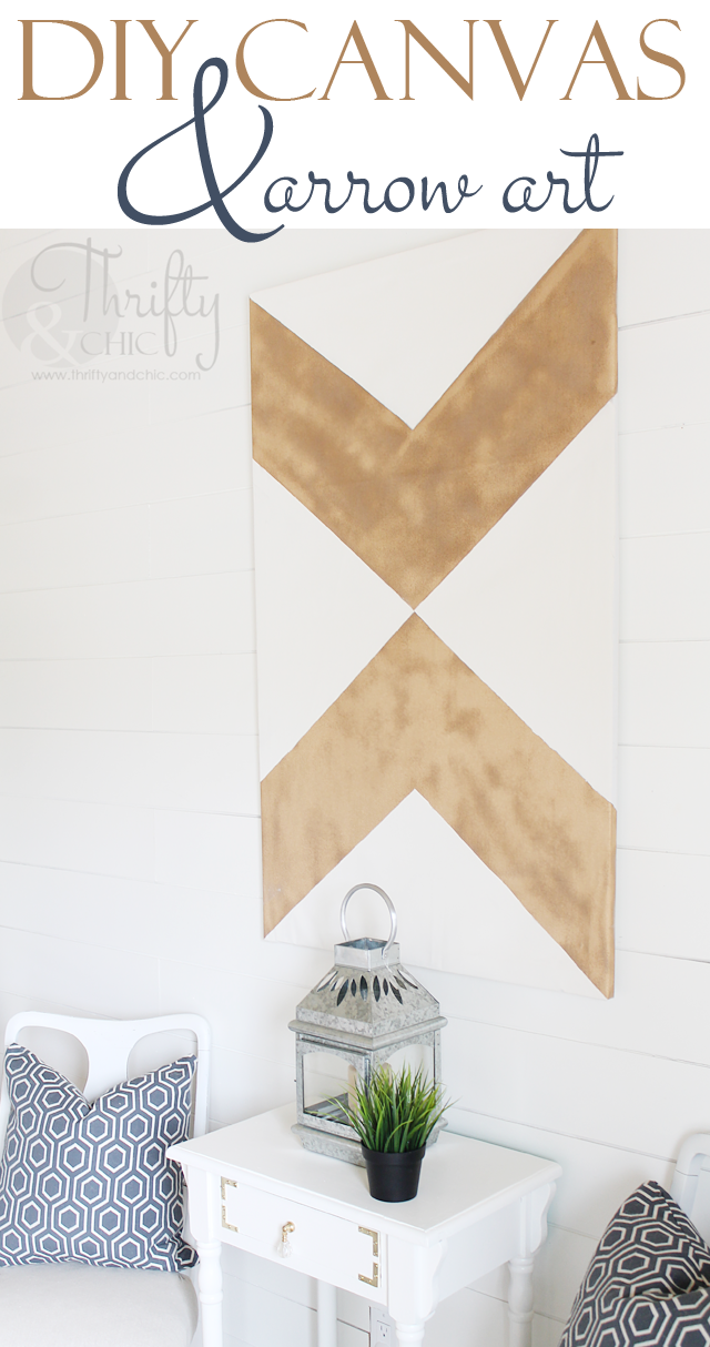DIY large canvas and arrow wall art