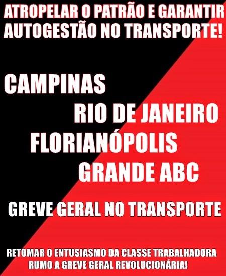 GREVE GERAL NO TRANSPORTE