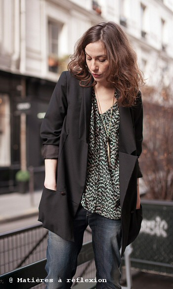 Veste oversize Karine Jean & Blouse Pyrus London